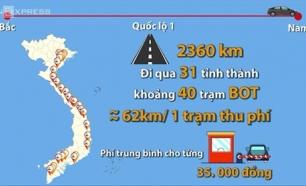 BOT l Chạy xe từ bắc vào nam bạn phải tốn bao nhiêu tiền cho Trạm Thu Phí BOT ?